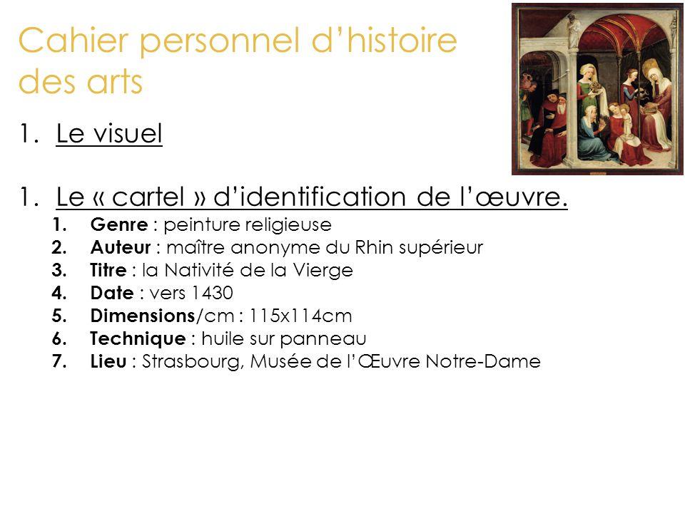 Cahier personnel d'histoire des arts 3.