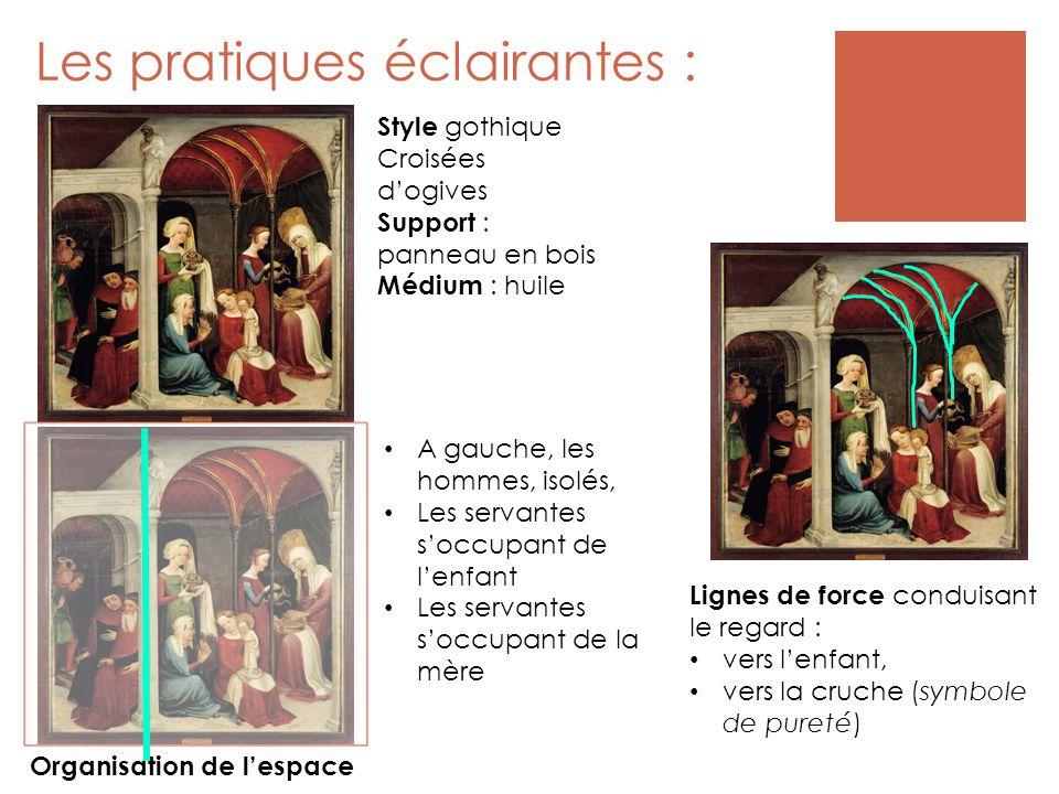 Les pratiques expertes : Les questions relatives au sens… Cette peinture « raconte » l'histoire de la Vierge (titre : « La Nativité de la Vierge »).