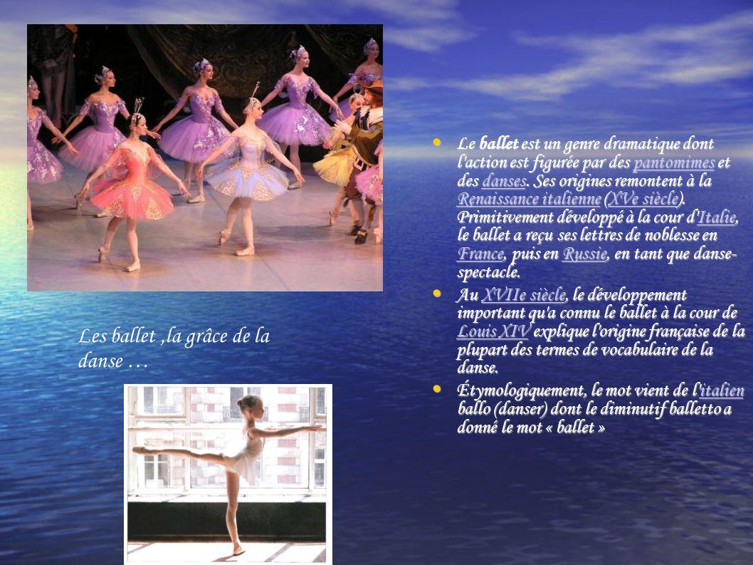 Mais la danse classique c'est beaucoup d'entraînement, de souplesse et de Volonté pour être danseuse étoile .