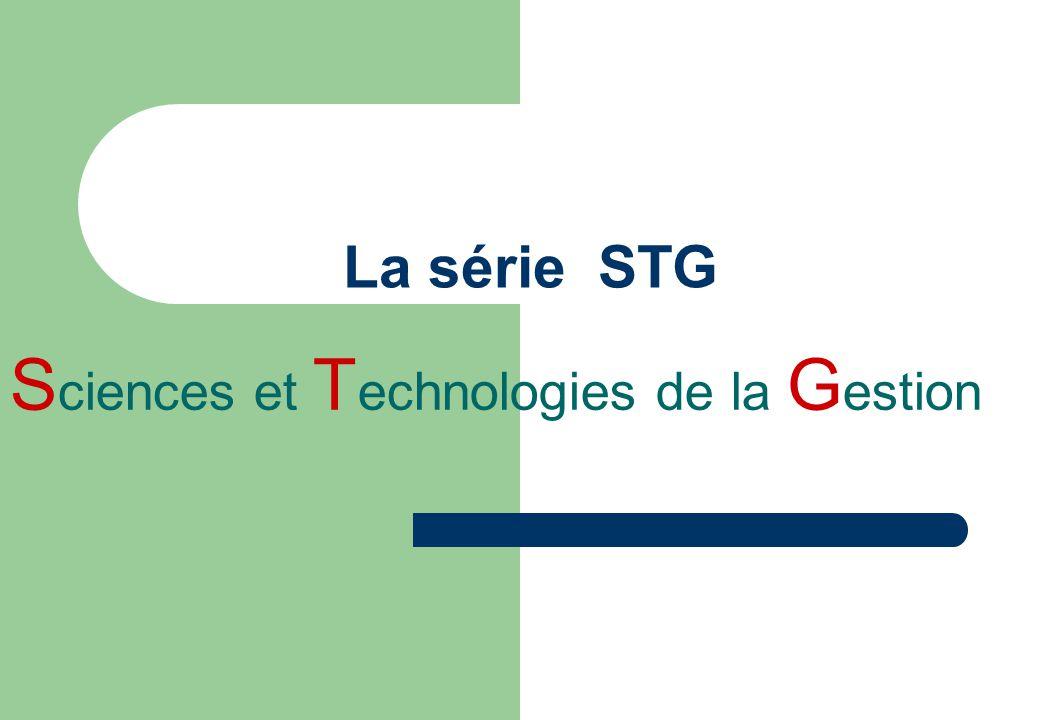 La série STG S ciences et T echnologies de la G estion