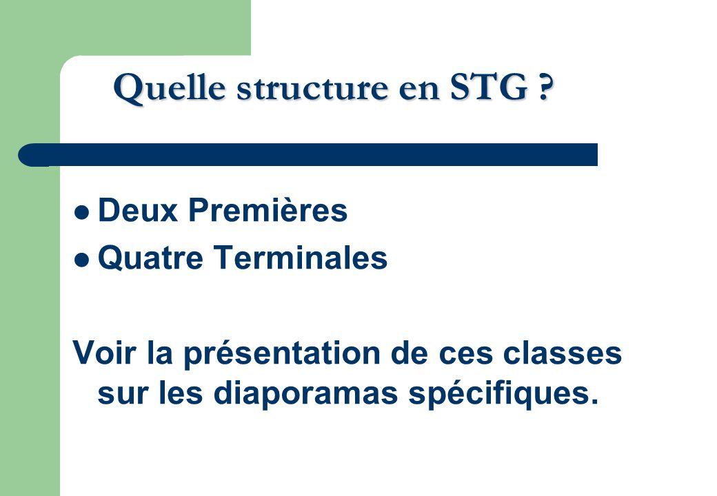 Quelle structure en STG .
