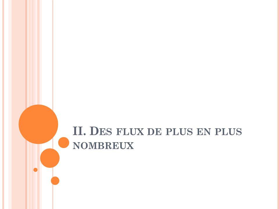 II. D ES FLUX DE PLUS EN PLUS NOMBREUX