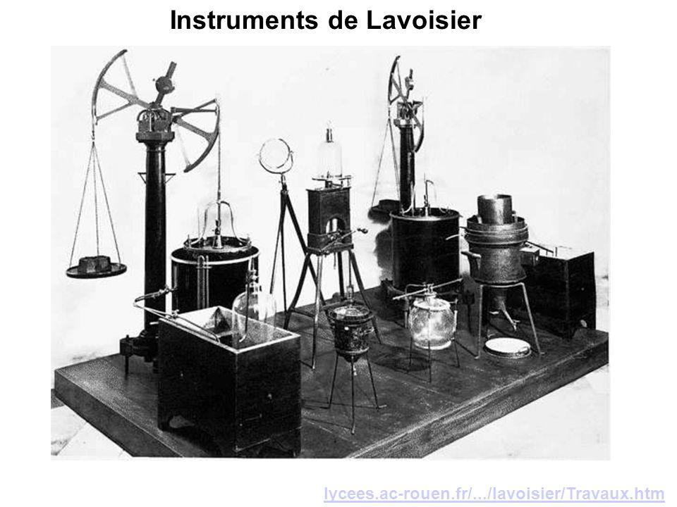 lycees.ac-rouen.fr/.../lavoisier/Travaux.htm Instruments de Lavoisier
