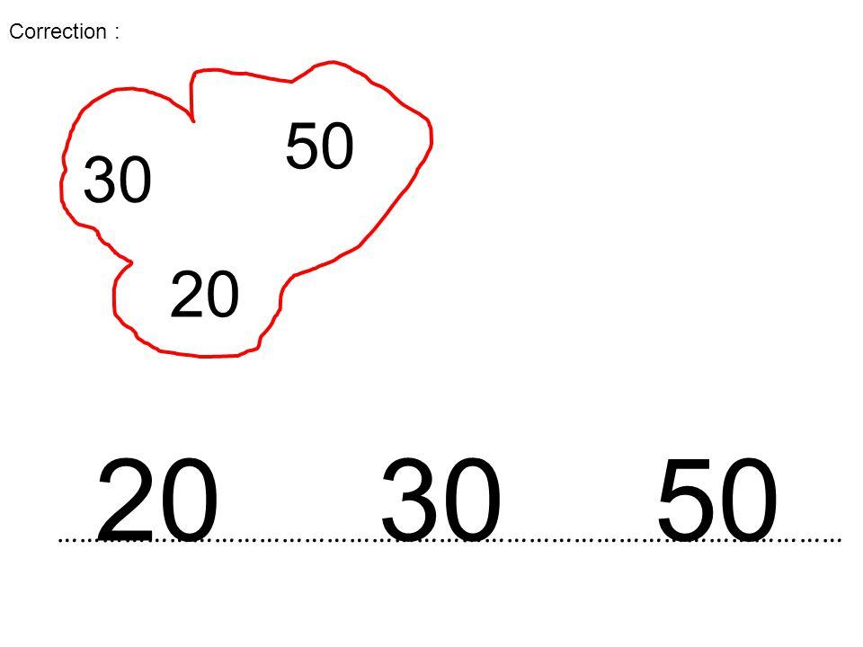 …………………………………………………………………………………………… 20 30 50 30 50 20 Correction :