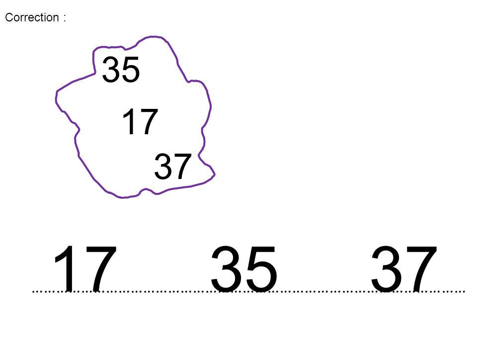 …………………………………………………………………………………………… 17 35 37 173537 Correction :