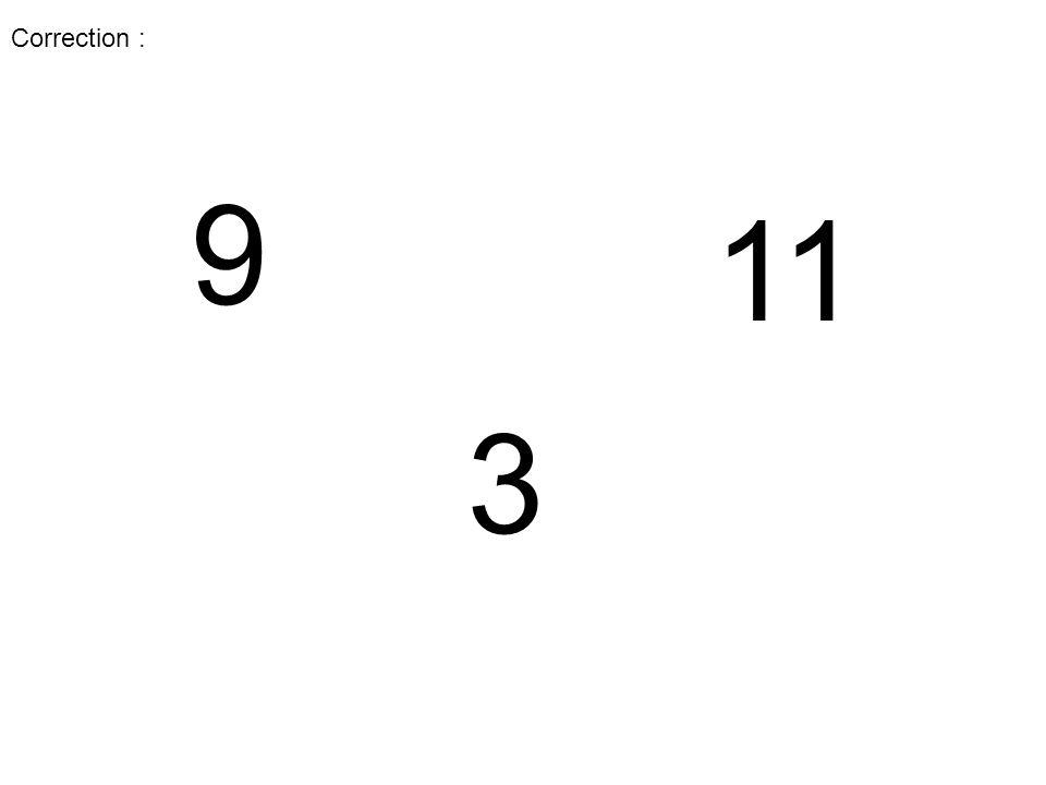 3 9 Correction :