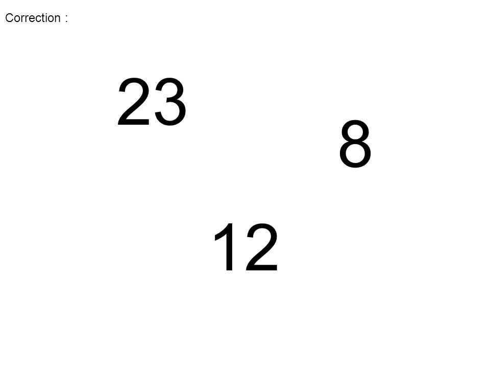 Vous allez voir des nombres.Il faudra les écrire sur l'ardoise du plus petit au plus grand.