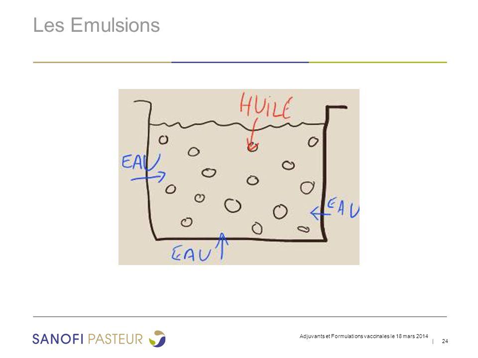| 24 Les Emulsions Adjuvants et Formulations vaccinales le 18 mars 2014