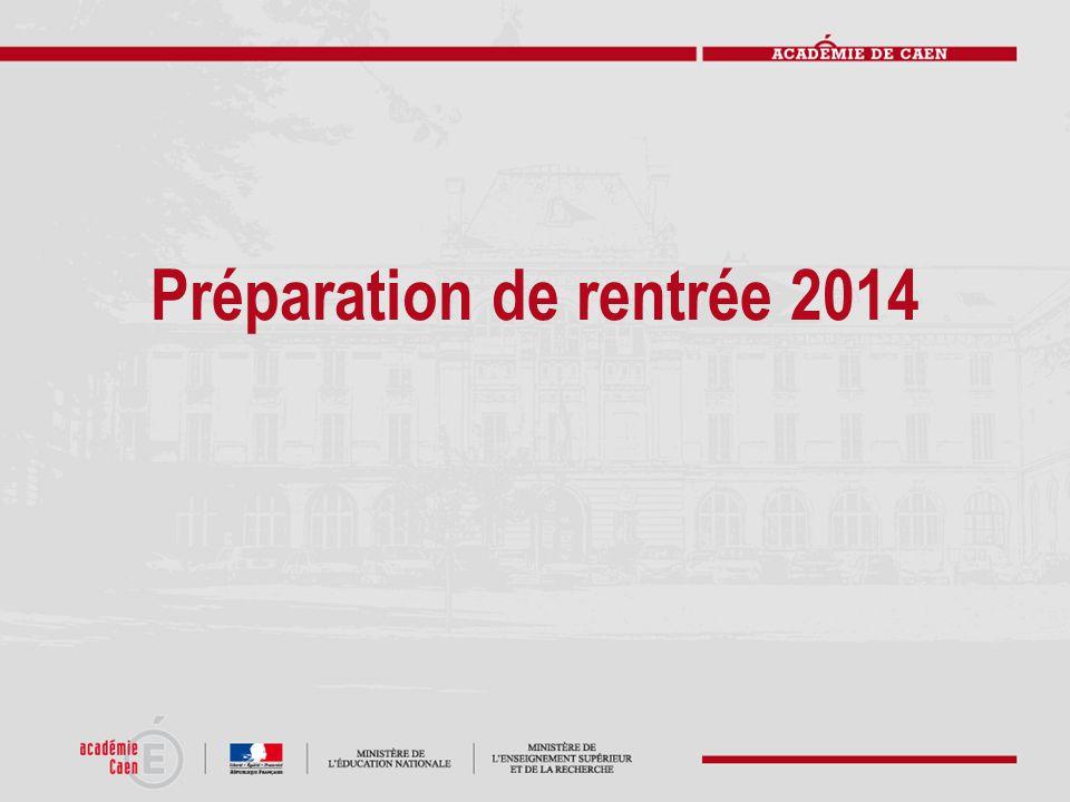 Préparation de rentrée 2014