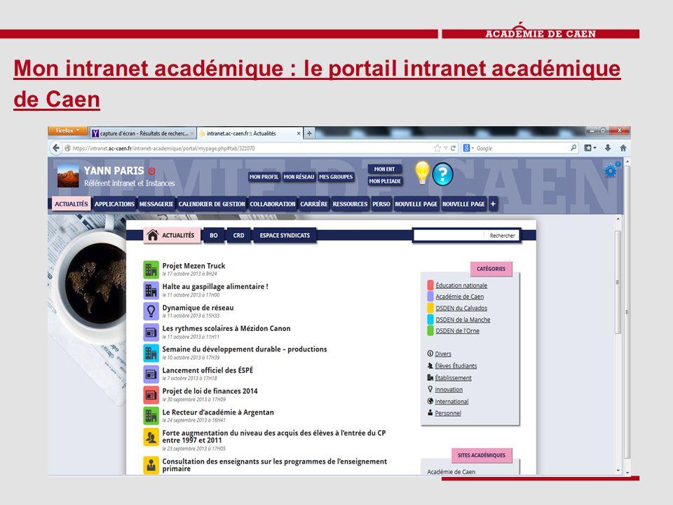 Mon intranet académique : le portail intranet académique de Caen