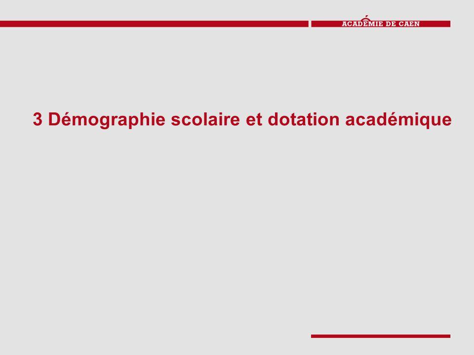 3 Démographie scolaire et dotation académique