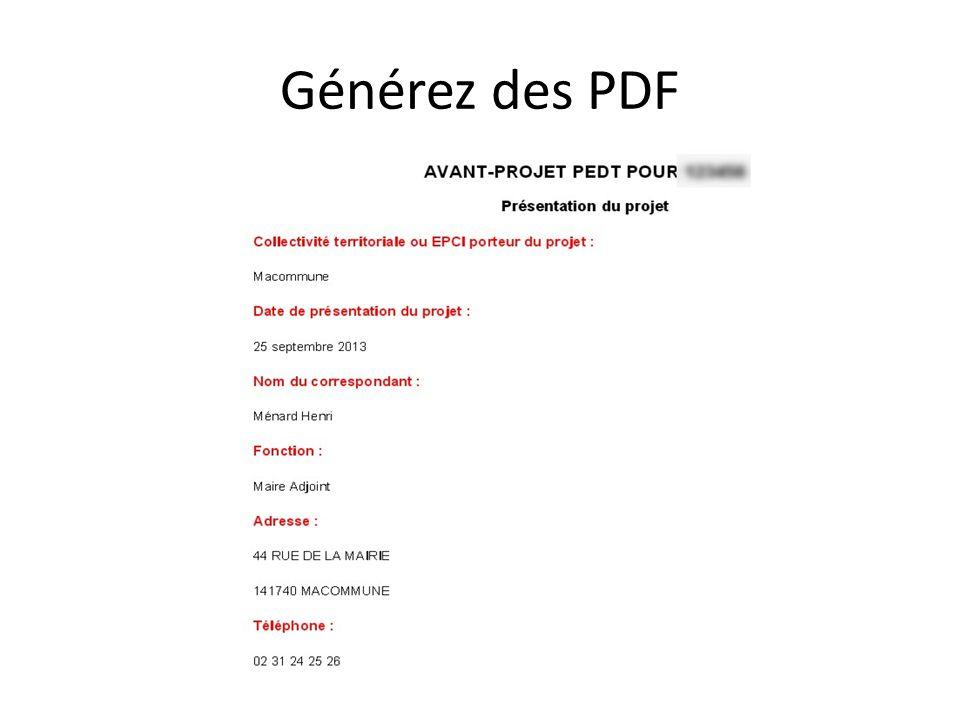 Générez des PDF