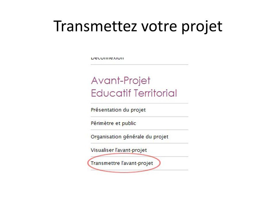 Transmettez votre projet