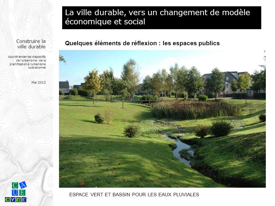 Construire la ville durable Appréhender les dispositifs de l'urbanisme : de la planification à l'urbanisme opérationnel Mai 2012 ESPACE VERT ET BASSIN