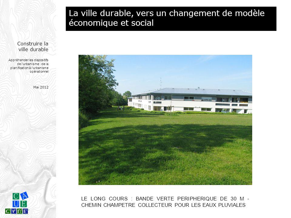 Construire la ville durable Appréhender les dispositifs de l'urbanisme : de la planification à l'urbanisme opérationnel Mai 2012 LE LONG COURS : BANDE