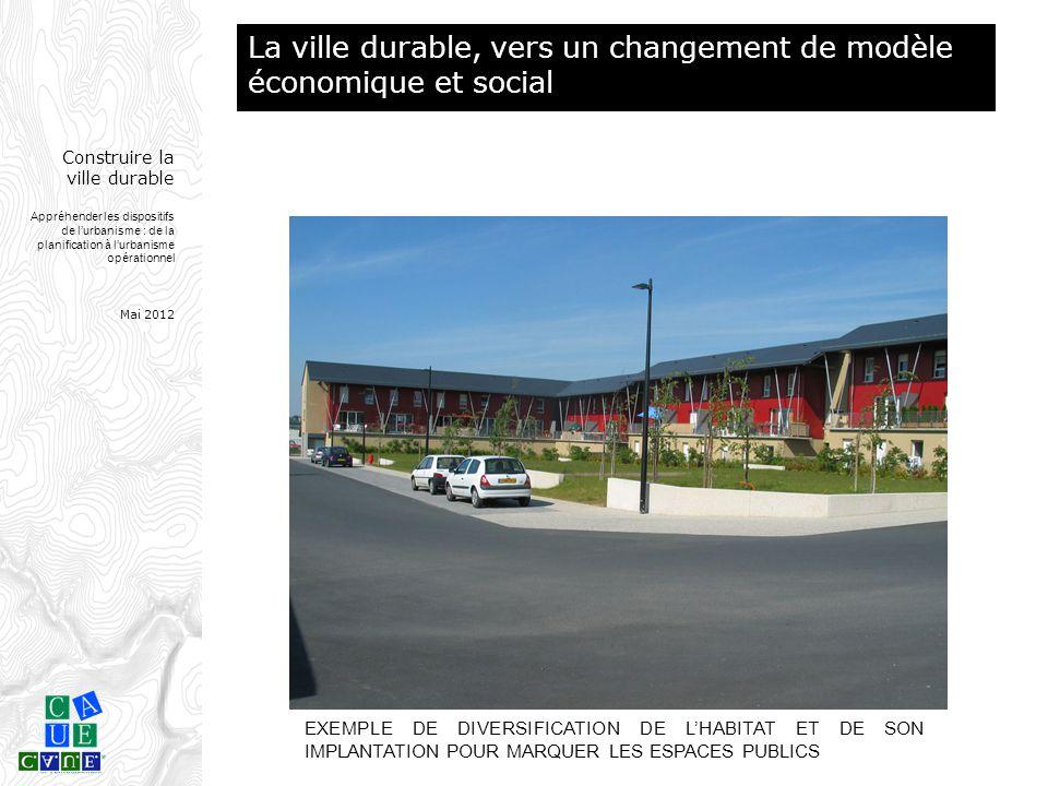 Construire la ville durable Appréhender les dispositifs de l'urbanisme : de la planification à l'urbanisme opérationnel Mai 2012 EXEMPLE DE DIVERSIFIC