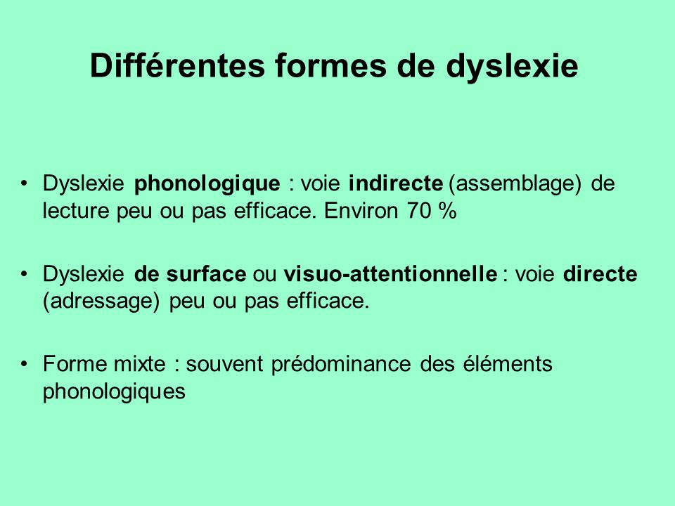 Comment l'aider (2) Mémoire Difficultés de mémorisation auditive, (poésies, leçons…) Retient mieux les dessins, schémas simples, titres en couleur… Recourir à l'exemple (contextualisation, aide au rappel) Enseigner une notion nouvelle en se référant à des éléments connus Attention : Soutenir par des éléments para-verbaux + supports visuels (gestes, mimiques, supports visuels imagés…) Attirer l'attention de l'élève User éventuellement du contact visuel et même physique (épaule, main…)