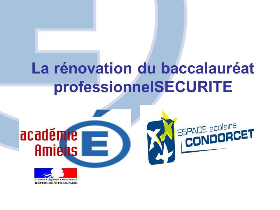 APPELATION BAC PRO METIERS de la SECURITE L'Appellation du diplôme BACCALAUREAT PROFESSIONNEL SPECIALITE « METIERS de le SECURITE « EMPLOIS CONCERNES Les «Métiers de la sécurité» se déclinent autour d'un triptyque regroupant : La sécurité Publique La sécurité Civile La sécurité Privée Rénovation du baccalauréat professionnel « Métiers de la sécurité »