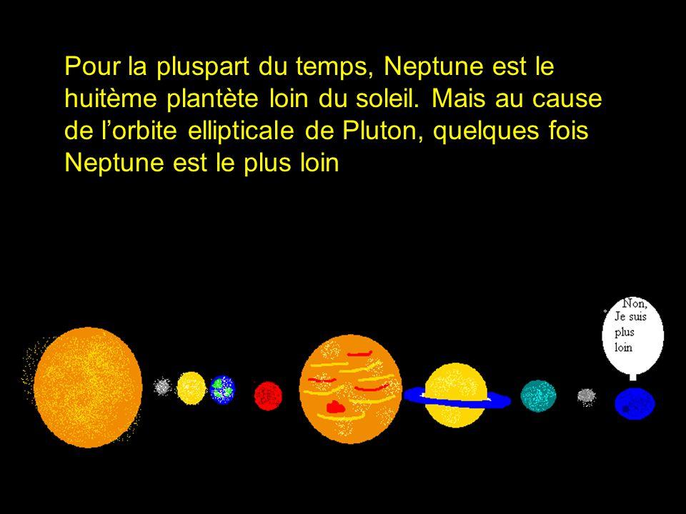 Pour la pluspart du temps, Neptune est le huitème plantète loin du soleil.