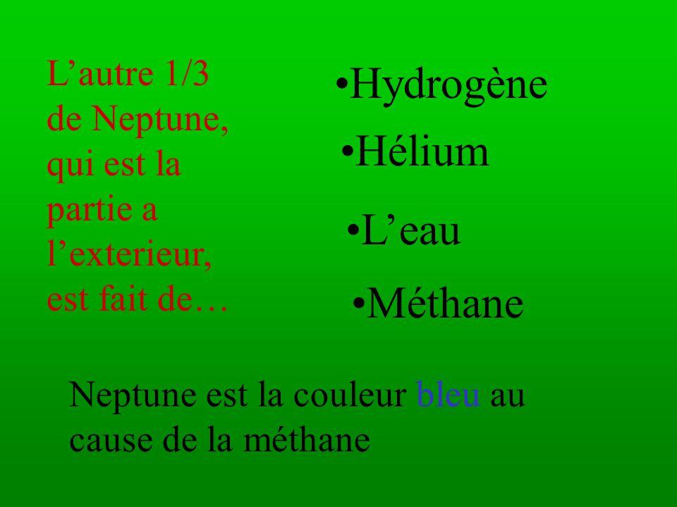 2/3 de Neptune est fait de… L'eau ammoniaque liquide méthane roche fondue