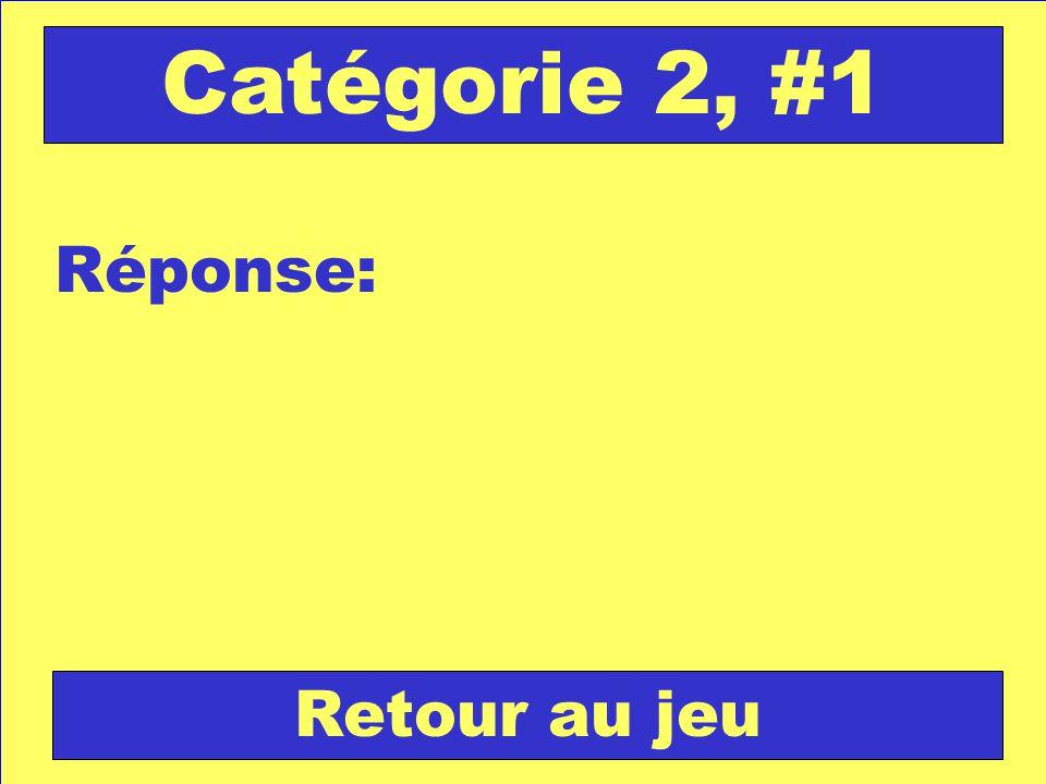 Réponse: Retour au jeu Catégorie 2, #1