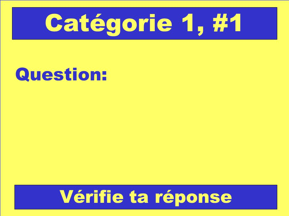 Réponse: Retour au jeu Catégorie 5, #1