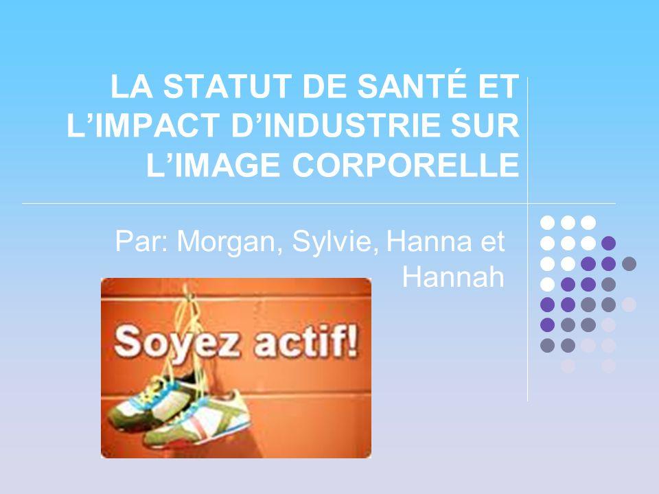 LA STATUT DE SANTÉ ET L'IMPACT D'INDUSTRIE SUR L'IMAGE CORPORELLE Par: Morgan, Sylvie, Hanna et Hannah
