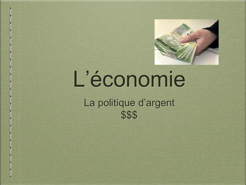 L'économie La politique d'argent $$$ La politique d'argent $$$