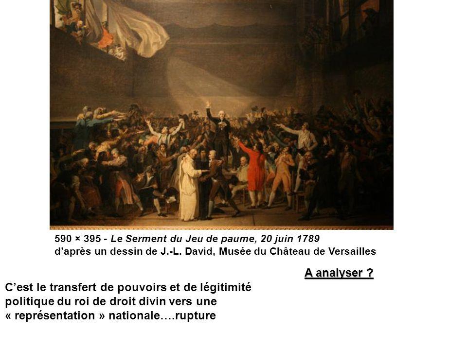 590 × 395 - Le Serment du Jeu de paume, 20 juin 1789 d'après un dessin de J.-L.