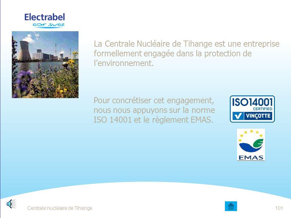 Centrale nucléaire de Tihange100 Pourquoi se préoccuper de l'environnement ? L'eau que nous buvons L'air que nous respirons Le sol que nous cultivons