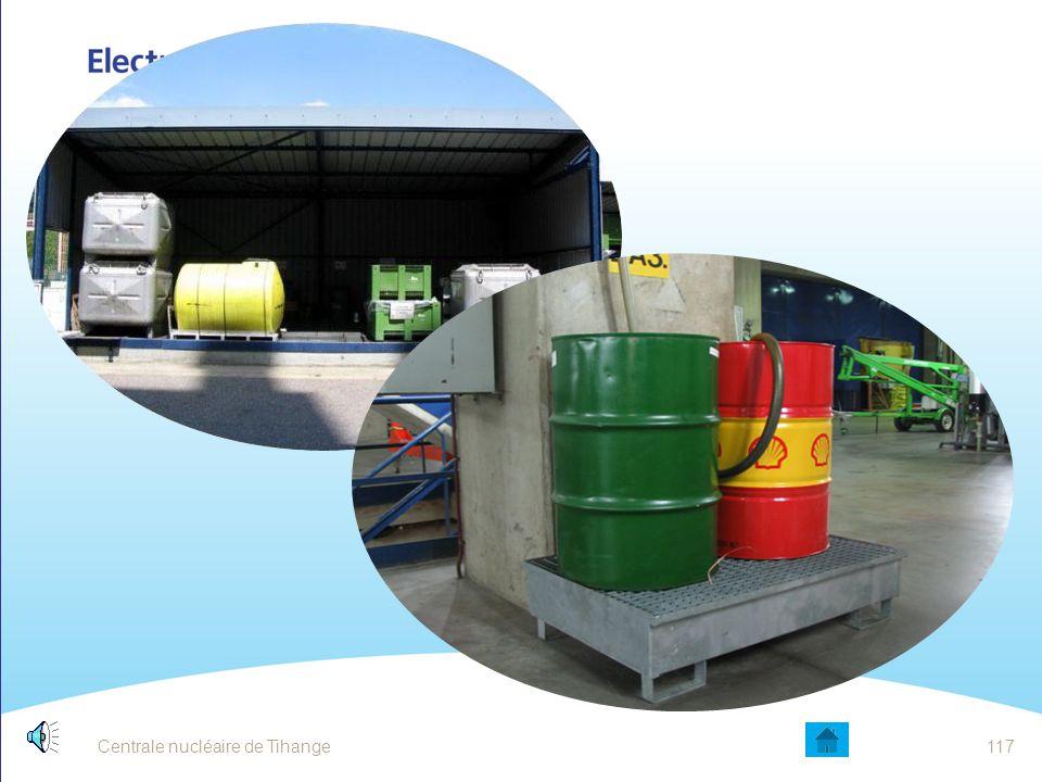 Centrale nucléaire de Tihange116 DÉCHETS SOLIDES INFLAMMABLES Utilisez de préférence les chiffons et carpettes réutilisables A ne pas jeter avec les a