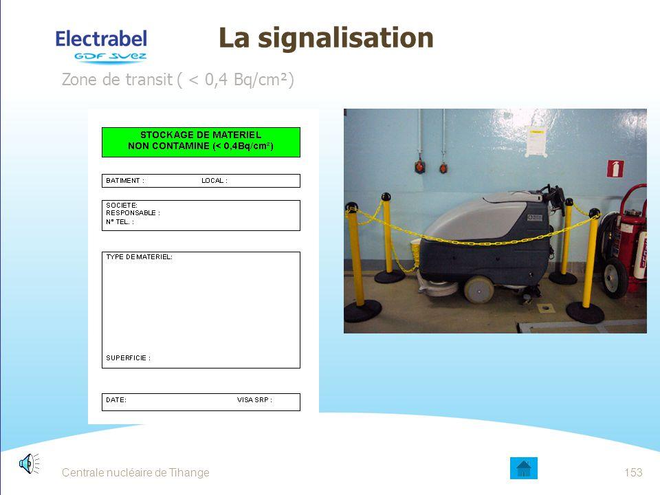 Centrale nucléaire de Tihange152 LA SIGNALISATION PORTES AUX LIMITES DE ZONE CONTROLEE
