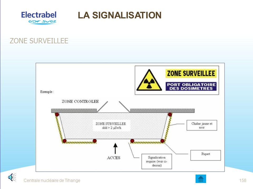 Centrale nucléaire de Tihange157 ZONE VERTE Utilisez cette zone comme zone sûre ZONE A FAIBLE DEBIT DE DOSE