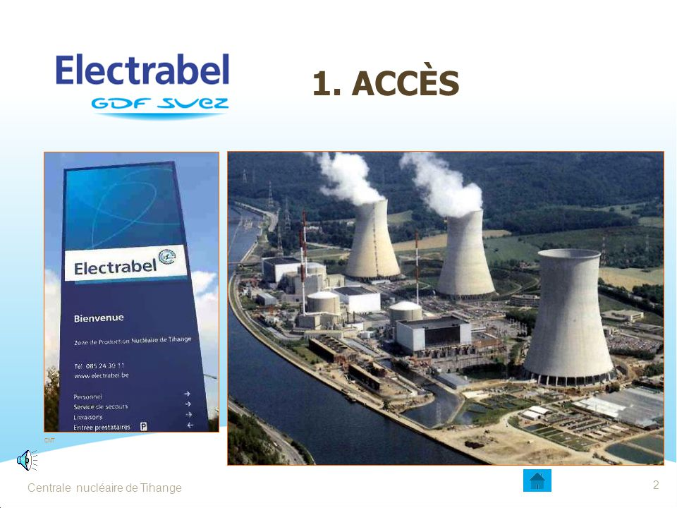 Centrale nucléaire de Tihange132 L'ENTRÉE EN ZONE CONTRÔLÉE 1Introduction du matériel par l'atelier Prévenir un agent SRP Pas de matériel superflu Éliminer les emballages