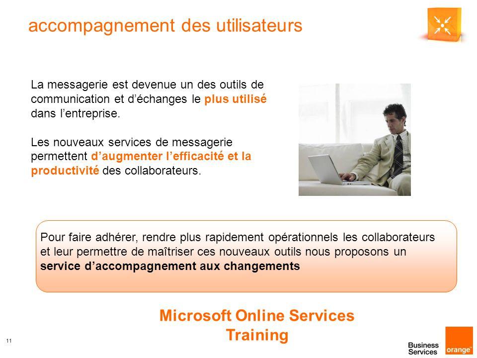 11 accompagnement des utilisateurs La messagerie est devenue un des outils de communication et d'échanges le plus utilisé dans l'entreprise.