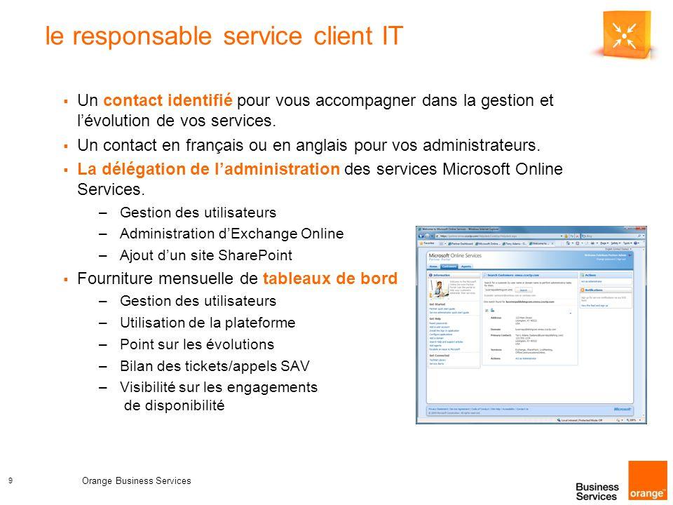9 le responsable service client IT  Un contact identifié pour vous accompagner dans la gestion et l'évolution de vos services.
