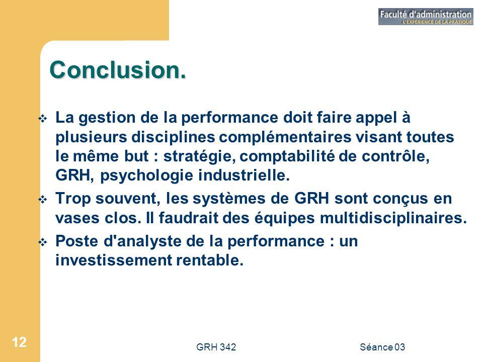 GRH 342Séance 03 12 Conclusion.