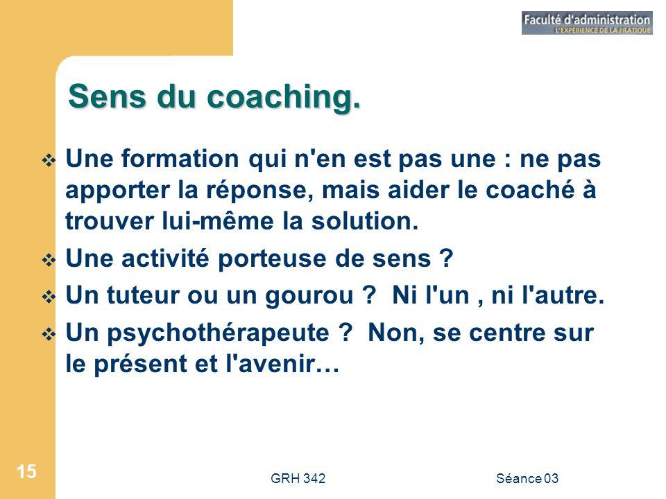 GRH 342Séance 03 15 Sens du coaching.