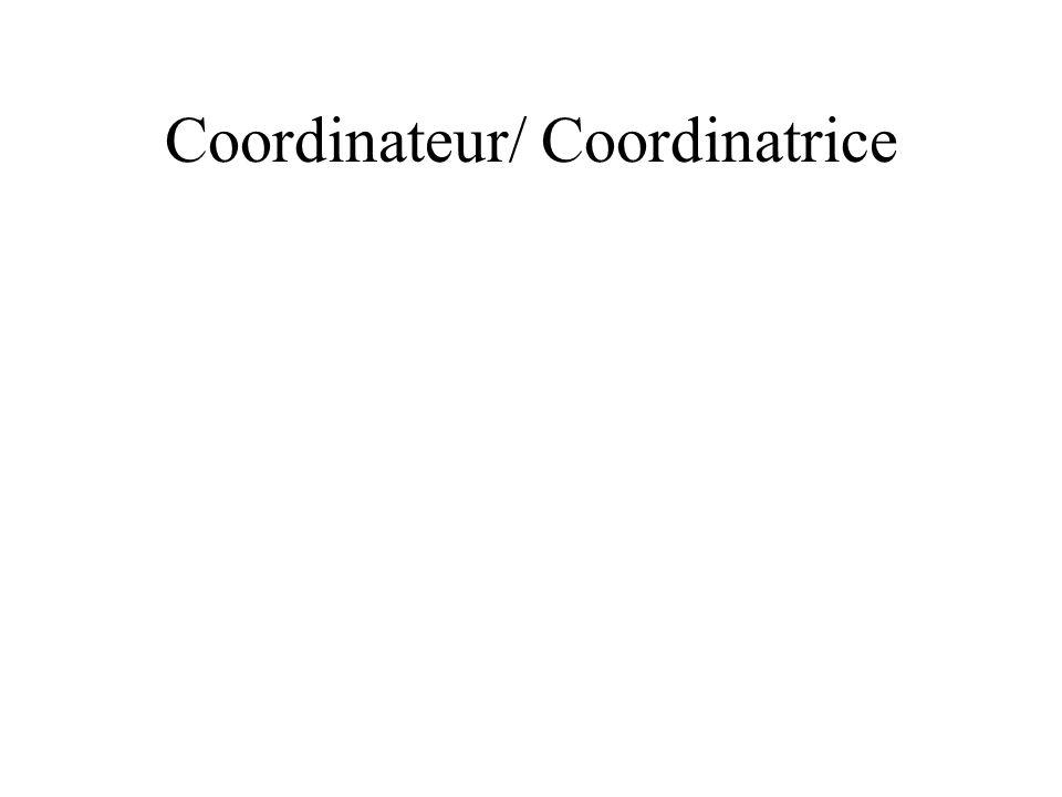 Coordinateur/ Coordinatrice