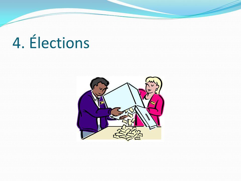 4. Élections