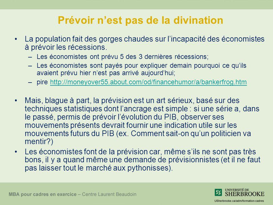 Prévoir n'est pas de la divination La population fait des gorges chaudes sur l'incapacité des économistes à prévoir les récessions.