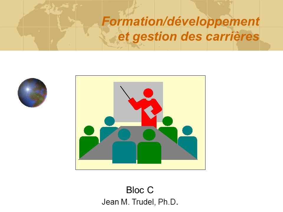 Formation/développement et gestion des carrières Bloc C Jean M. Trudel, Ph.D.
