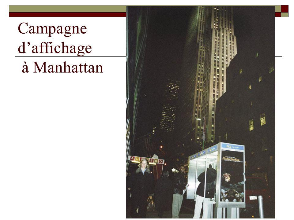 Campagne d'affichage à Manhattan