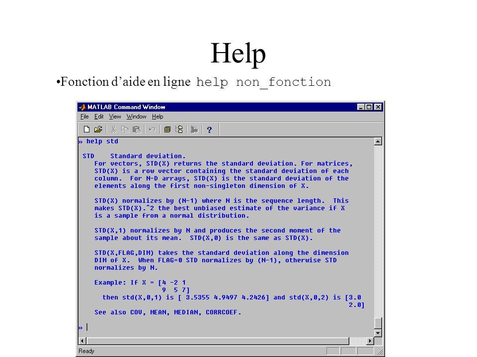 Help helpFonction d'aide en ligne help non_fonction