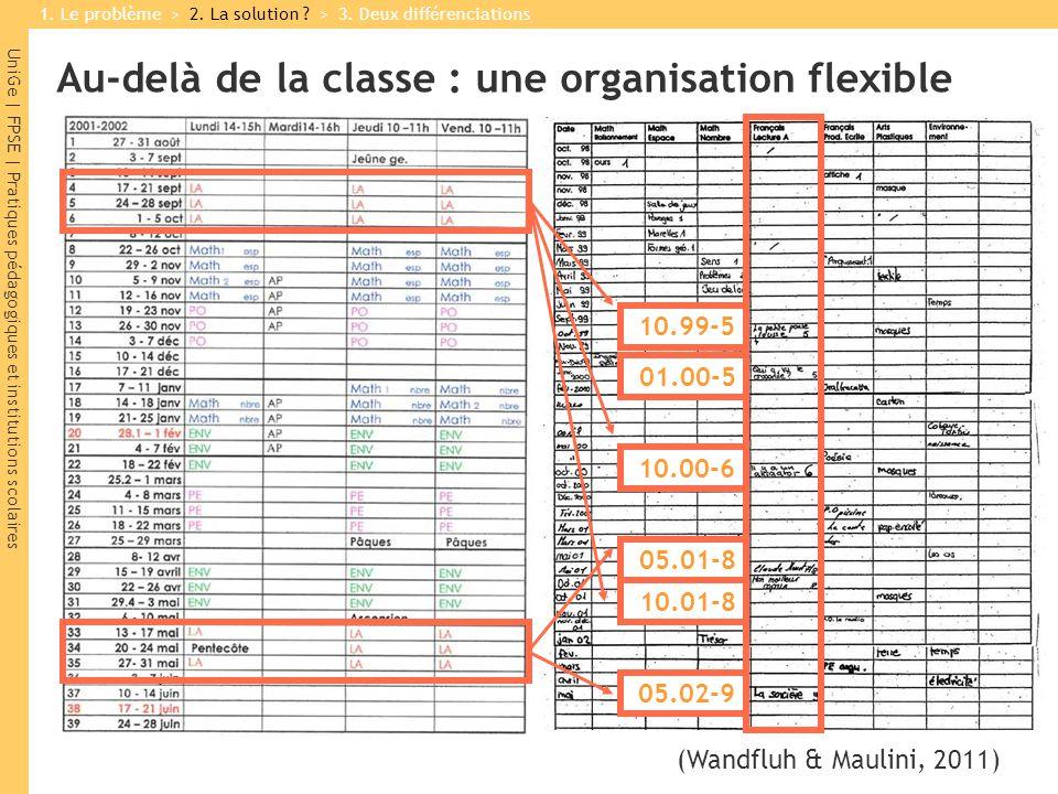 UniGe | FPSE | Pratiques pédagogiques et institutions scolaires (Wandfluh & Maulini, 2011) 10.99-5 01.00-5 10.01-8 05.02-9 10.00-6 05.01-8 1.