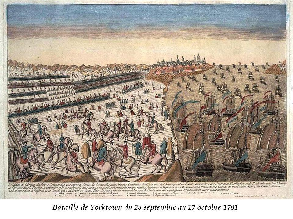 Bataille de Yorktown du 28 septembre au 17 octobre 1781