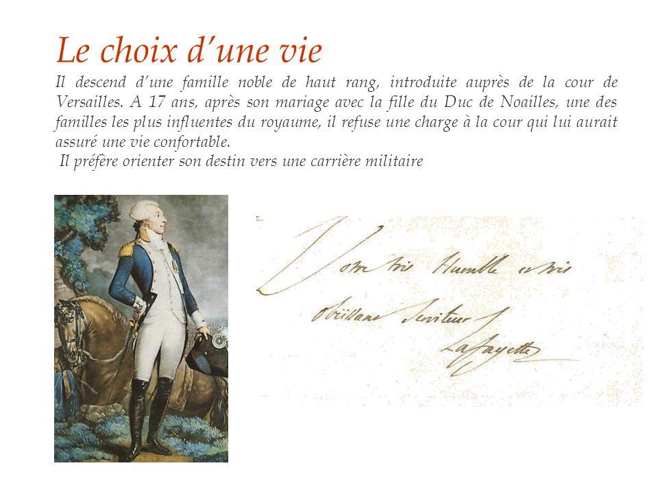 Le choix d'une vie Il descend d'une famille noble de haut rang, introduite auprès de la cour de Versailles.