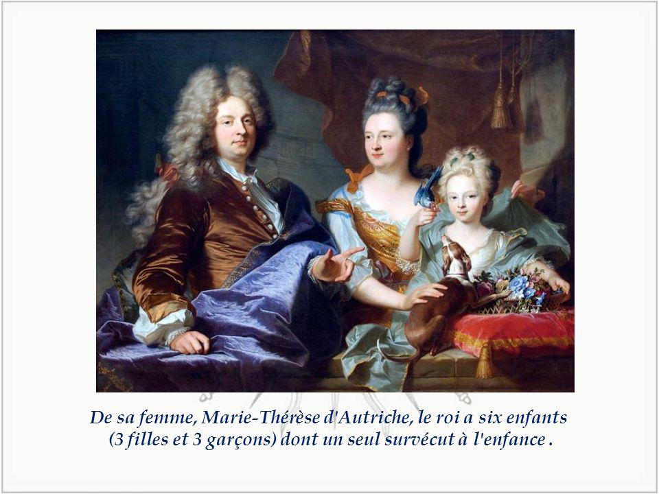 En 1659, il épouse à St jean de Luz, l'Infante Marie-Thérèse d'Autriche pour des raisons d'Etat