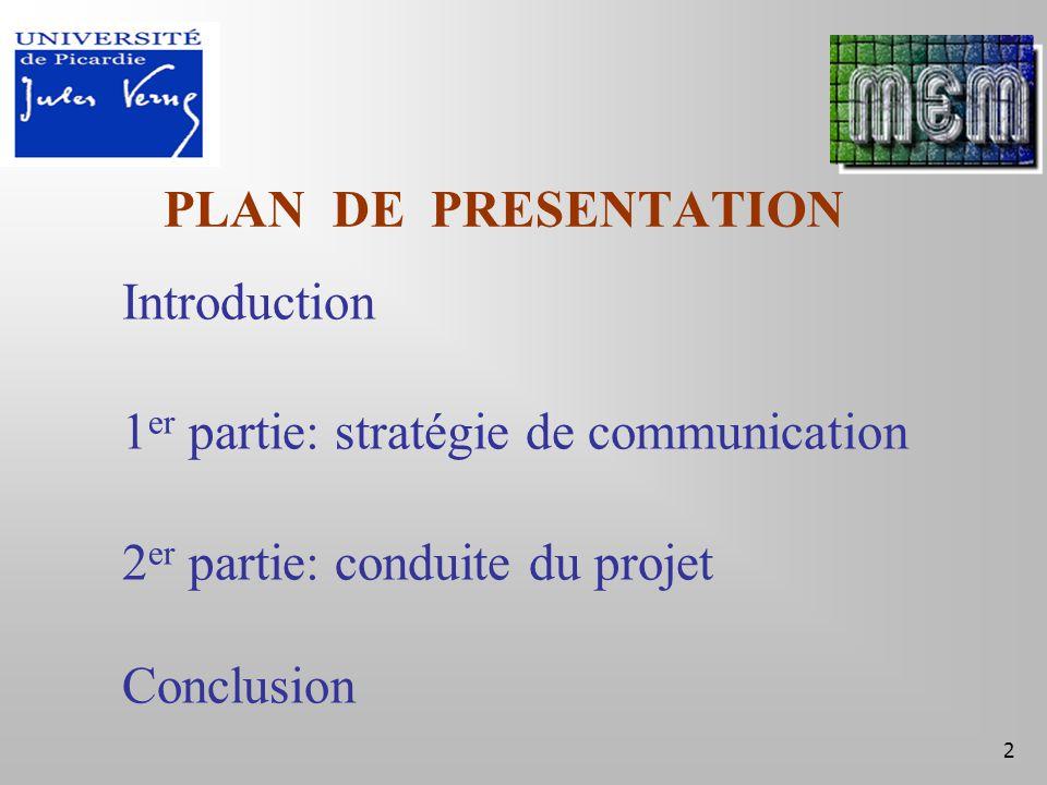 13 Conclusion Connaissance Introduction 1 er partie 2 er partie Conclusion