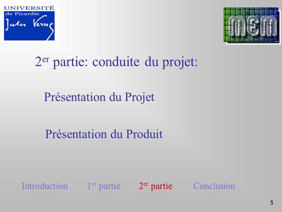 6 Présentation du Projet I – Lancement II – Cadrage III –Planification IV – pilotage V- Clôture Introduction 1 er partie 2 er partie Conclusion